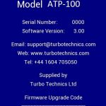 actuator tester screen